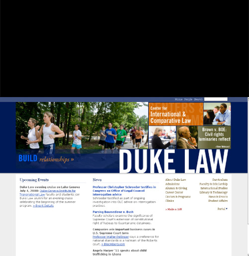 Duke Law Website Redesign